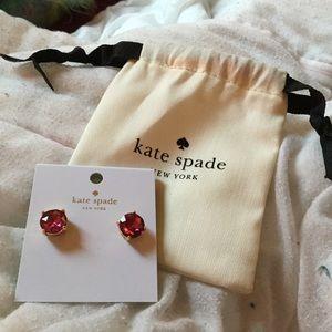 Kate Spade Pink Earrings Post NWT Gumdrop